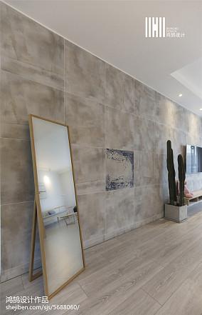 2018精选93平米三居客厅简欧装修欣赏图片大全三居北欧极简家装装修案例效果图