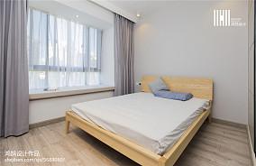 精选简欧三居卧室装修实景图三居北欧极简家装装修案例效果图