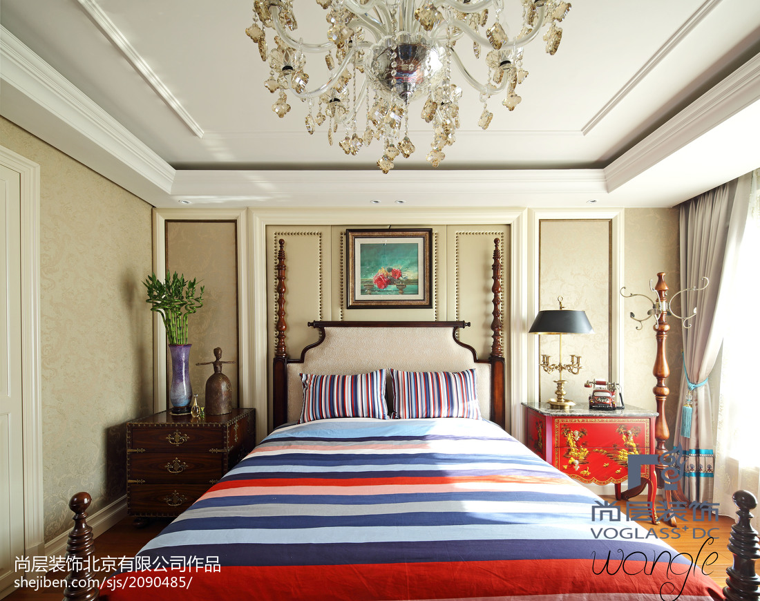 精选四居卧室新古典实景图片大全卧室美式经典卧室设计图片赏析