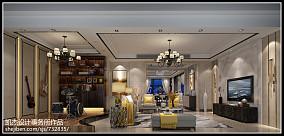 2018精选面积112平复式客厅简约装修效果图片