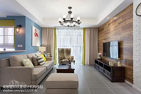 明亮100平混搭三居装饰图客厅1图潮流混搭设计图片赏析