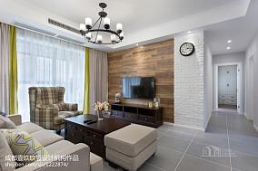 混搭风格古朴背景墙装修客厅潮流混搭设计图片赏析