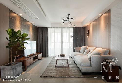 优美140平现代二居装潢图客厅沙发121-150m²二居现代简约家装装修案例效果图
