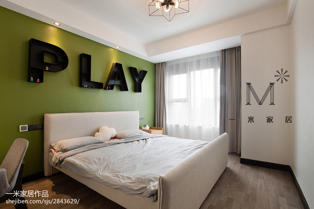 简单现代风格二居室卧室装修卧室现代简约卧室设计图片赏析