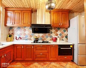 典雅46平美式复式厨房装饰图餐厅美式经典设计图片赏析