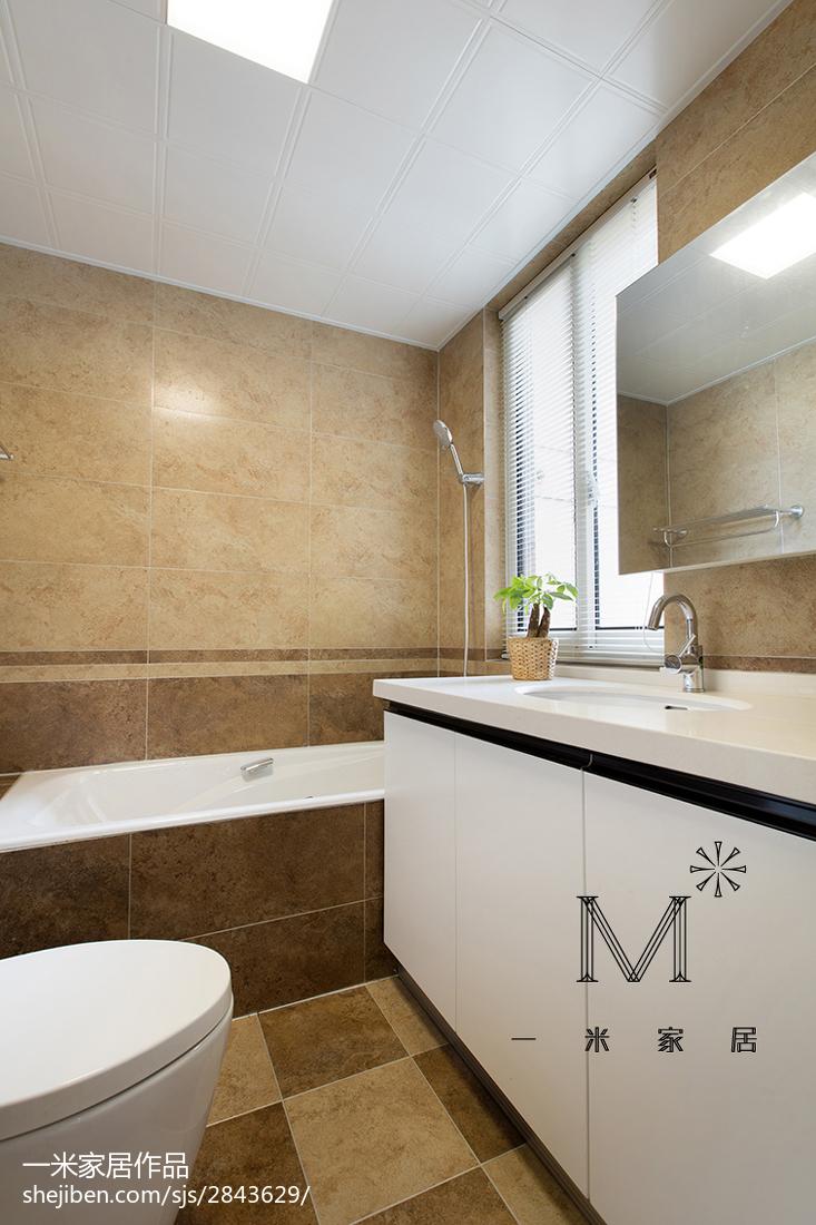 现代风格三居室卫浴装修卫生间现代简约卫生间设计图片赏析
