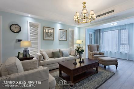 轻奢157平美式四居客厅美图客厅
