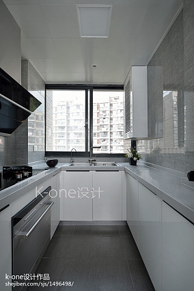 面积97平简约三居厨房装修效果图片