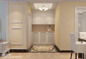 优美116平简欧三居玄关装饰图121-150m²三居欧式豪华家装装修案例效果图