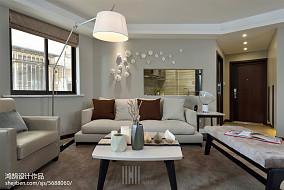 精选大小100平简约三居客厅效果图片欣赏121-150m²三居家装装修案例效果图