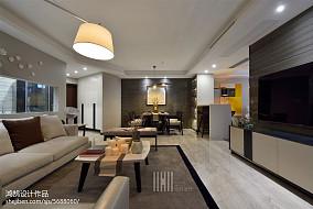 2018面积91平简约三居客厅装修效果图片