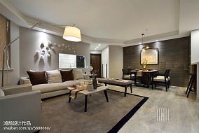 精致112平简约三居客厅装修美图121-150m²三居现代简约家装装修案例效果图