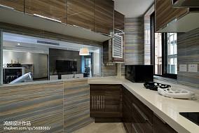 2018精选三居厨房简约装修实景图片大全121-150m²三居家装装修案例效果图