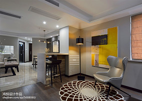 温馨105平简约三居休闲区案例图121-150m²三居现代简约家装装修案例效果图
