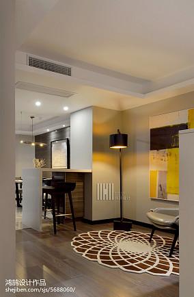 大气100平简约三居休闲区图片大全121-150m²三居现代简约家装装修案例效果图