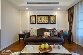 2018美式二居客厅装修效果图片欣赏