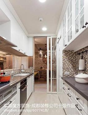 98平米三居厨房美式效果图片