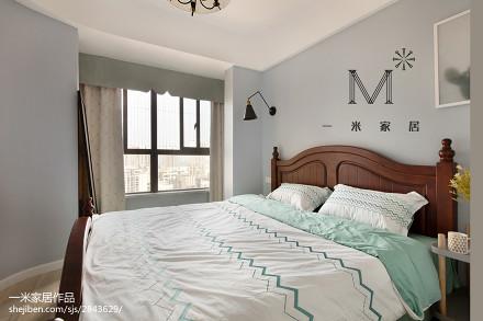 精美面积97平美式三居卧室装修图片
