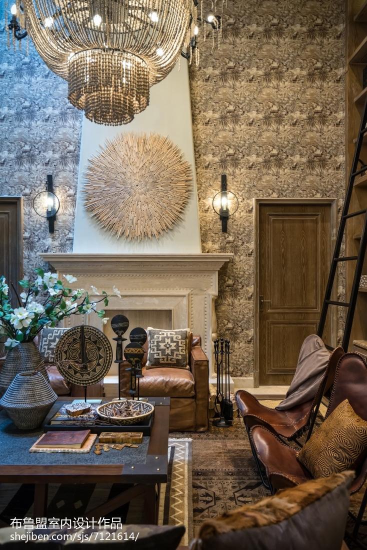 精美面积143平别墅客厅混搭装修实景图片欣赏客厅