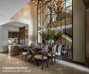 精选117平米混搭别墅餐厅装修图片欣赏别墅豪宅潮流混搭家装装修案例效果图
