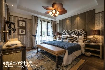 热门面积135平别墅卧室混搭装修图片大全