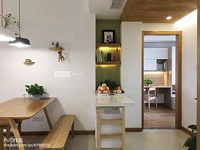 质朴76平日式复式餐厅设计效果图
