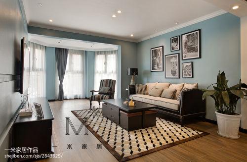 简洁148平现代二居客厅设计案例客厅窗帘121-150m²二居现代简约家装装修案例效果图