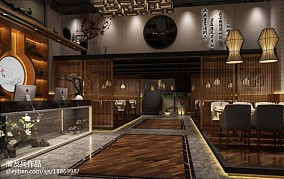 格调小饭店吧台