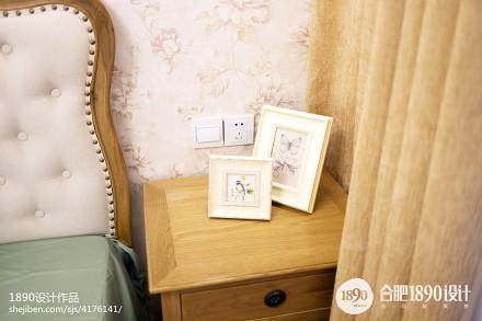 2018面积95平美式三居卧室装修图片卧室