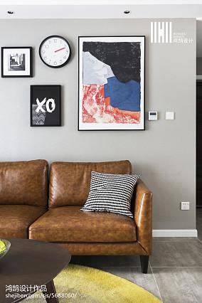 精选面积107平简约三居客厅装饰图片大全三居现代简约家装装修案例效果图