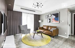 2018精选98平米三居客厅简约装修图片大全