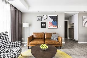 精美面积98平简约三居客厅装修实景图片大全