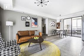 2018精选99平米三居客厅简约装修设计效果图片三居现代简约家装装修案例效果图