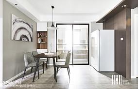 2018精选109平方三居餐厅简约装修欣赏图三居现代简约家装装修案例效果图