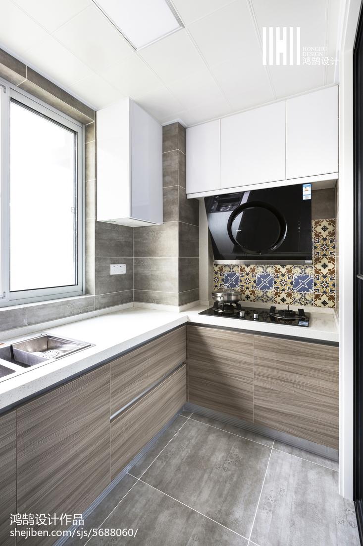 家居简约风格橱柜设计效果图餐厅现代简约厨房设计图片赏析