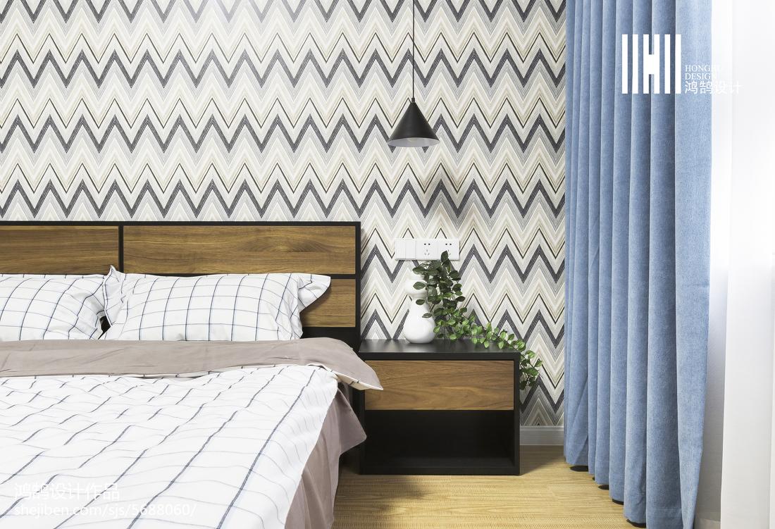 热门101平方三居卧室简约装修效果图卧室现代简约卧室设计图片赏析
