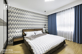 精美96平米三居卧室简约装饰图三居现代简约家装装修案例效果图