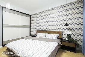 2018精选98平米三居卧室简约装修效果图片欣赏三居现代简约家装装修案例效果图