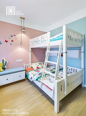 精选面积102平简约三居儿童房实景图片大全三居现代简约家装装修案例效果图