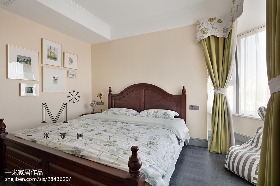 精选130平米四居卧室美式装修设计效果图卧室美式经典卧室设计图片赏析