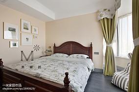 精选130平米四居卧室美式装修设计效果图四居及以上美式经典家装装修案例效果图