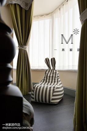 精美四居卧室美式装修设计效果图四居及以上美式经典家装装修案例效果图