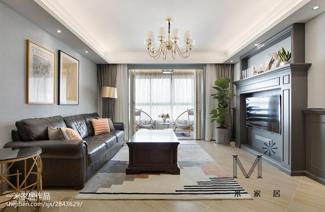 浪漫180平美式四居效果图客厅美式经典客厅设计图片赏析