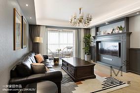 精美124平美式四居设计图四居及以上美式经典家装装修案例效果图