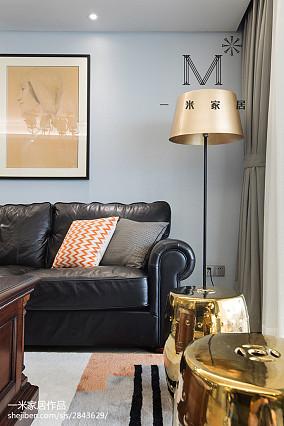 平方四居客厅美式装修设计效果图片四居及以上美式经典家装装修案例效果图