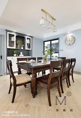 优美132平美式四居设计案例四居及以上美式经典家装装修案例效果图