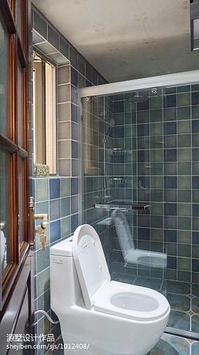 精选80平米二居卫生间美式装修欣赏图