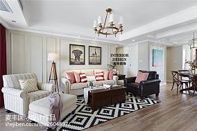 家装美式三居室客厅装修