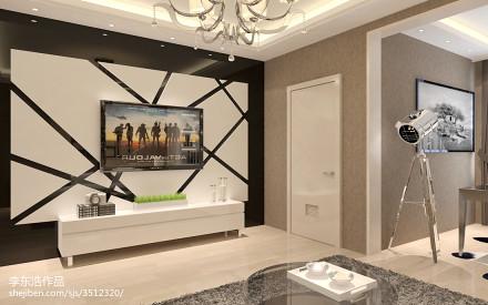 2018精选面积81平小户型客厅现代装修图片一居现代简约家装装修案例效果图