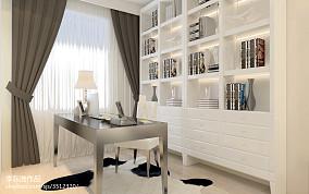 平米现代小户型书房装修设计效果图片大全一居现代简约家装装修案例效果图